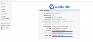 ownCloud virtual machine virtualbox windows host webmin screen
