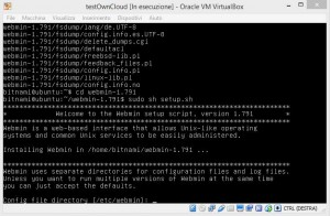 ownCloud virtual machine virtualbox windows host webmin install