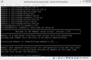 ownCloud virtual machine virtualbox windows host webmin install