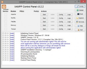 XAMPP Windows - Apache web server e wordpress