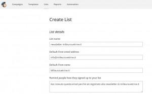 Newsletter per WordPress con MailChimp