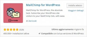 Newsletter per WordPress con MailChimp
