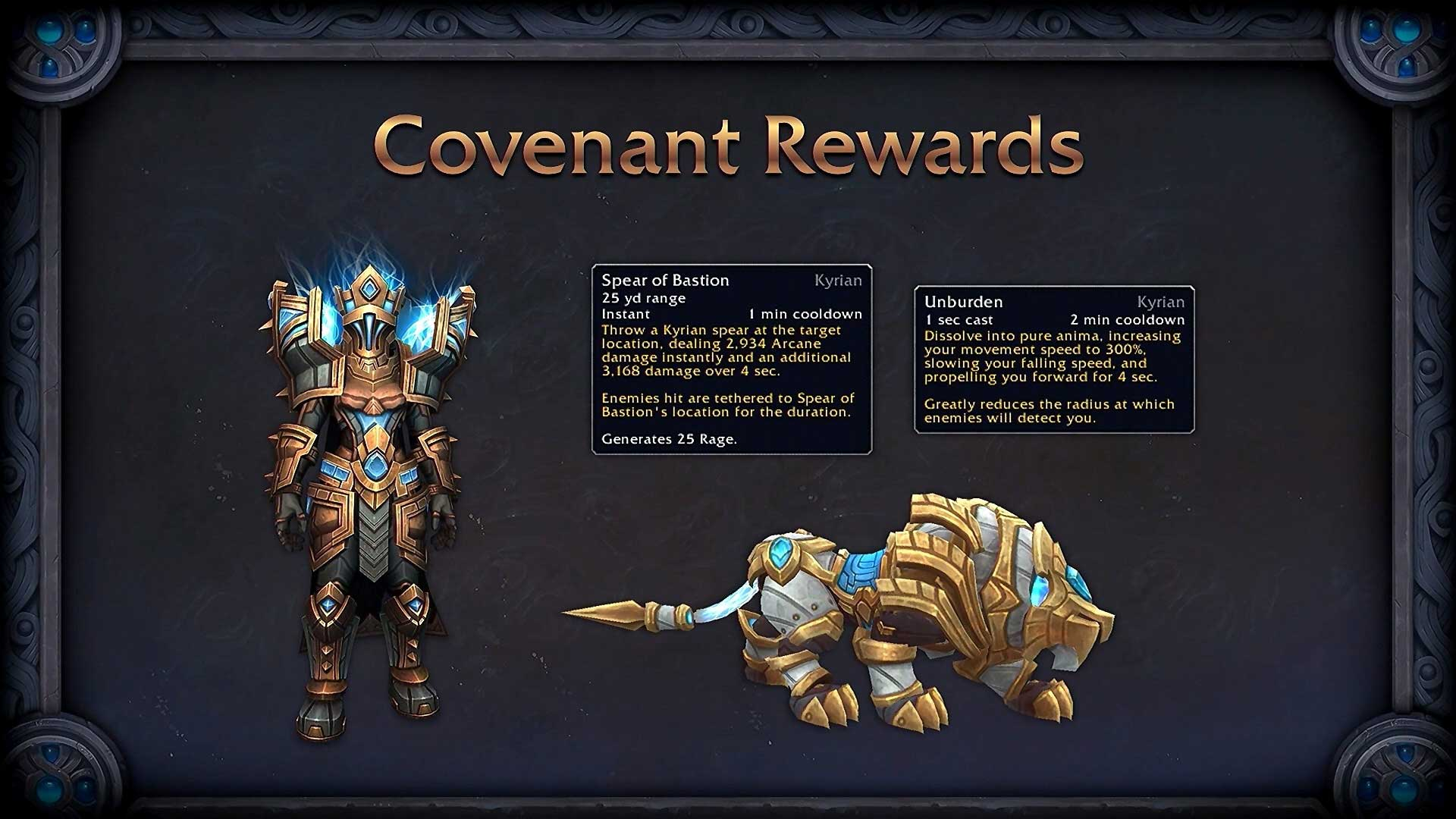 wow shadowlands covenant rewards